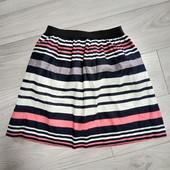 Фирменная красивая коттоновая юбка в хорошем состоянии р.8-12