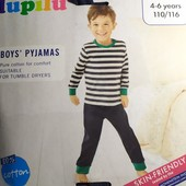 Классная пижамка на мальчика Lupilu Германия размер 110/116
