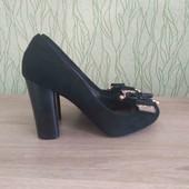 классические туфли 39 размер, натуральная замша