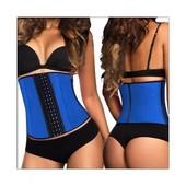 Утягивающий женский корсет для похудения Original Blue L