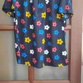 Блуза женская ,цветы,штапель