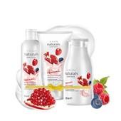 Набор Avon Йогуртовый для тела с ароматом лесных ягод и граната- 3 средства! Гель/Скраб/ лосьон !