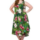 Платье с натуральной ткани оверсайз 52-56