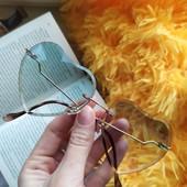 Стильные солнцезащитные очки+подарок! Бирюзовые или коричневые. Сделайте свой образ незабываемым! ❦