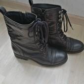 Итальянские кожаные сапоги - 39 размер!!!