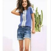 esmara.стильная хлопковая футболка с арнаментом L44/46+6замеры