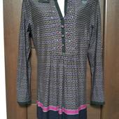 Фирменная новая трикотажная блуза-туника из вискозы р.14-16