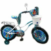 Велосипед Русалочка с боковыми колесиками,диаметр 16 на 4-8лет