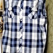 Собираем лоты!! Фирменная рубашка - жилетка, размер xl