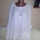 Отличная белая блуза 18/46 размера.