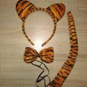 Набір Тигреня стан нового. Набор Тигренок ушки, хвост, галстук-бабочка