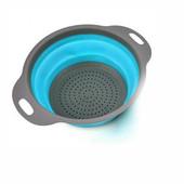 Складной силиконовый дуршлаг– отличный способ оптимизации кухонного пространства! Складывающееся д