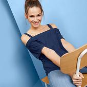 ☘ Красивая, стильная футболка без плеч от Tchibo(Германия), р.: 58-60 (52/54 евро)
