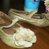 Красивые золотые туфельки балетки Зара ! Не пропустите!