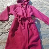 Флисовый халат для девочки на рост 146-152см а