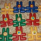 Конструктор для малышей Зайка-собирайка цыфрами и анг.буквами