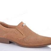 Стильные мужские туфли искусственный нубук. фирма Clowse.