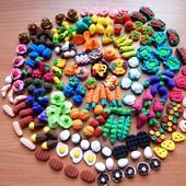 Мини-еда,овощи,фрукты для Лол и Барби. Детки в восторге! В лоте набор из 20 шт.