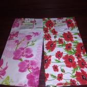 2 кухонный ярких полотенца!Орхидея+красный мак.