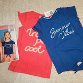 комплект: две модные футболки на девочку от alive
