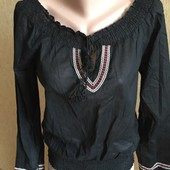 Хб блузка с вышивкой ,размер М