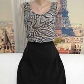 Платье с комбинированых тканей, Mango, размер М.
