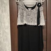 Фирменное красивое трикотажное платье в отличном состоянии р.14-16