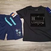 Германия! Летний наборчик на мальчика, футболочка + шортики, 86-92 см, 12-24 м.