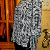 Качество!!! Легкая натуральная блуза/удлиненная спинка, от Next, в новом состоянии