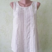 Шикарная блуза с кружевом из вискозы молочного цвета