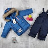 Шикарные детские зимние комбинезоны для мальчика.