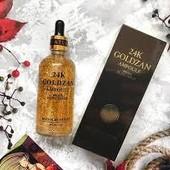 Омолаживающая антивозрастная Сыворотка 24K Gold Ampoule Goldzan с пептидами и экстрактом золота