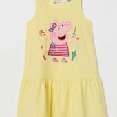 Детское платье со свинкой Пеппой H&M на 8-10 лет С биркой