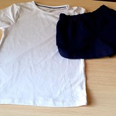 Кльовий комплект на дівчинку, шорти плюс футболка , розмір 110/116