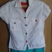 белая рубашка/блузка х/б