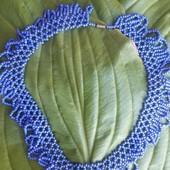 плетенные бусы с бисера