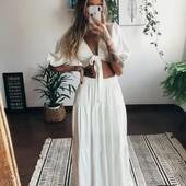 Шикарная белая длинная юбка на лето!