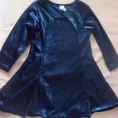 В идеале! Нарядное бахатное платье на девочку 3-4 года, 92-98