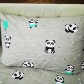 Красивая наволочка панда 50/70 см