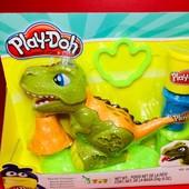 "Play-Doh. Оригинал, Hasbro. Набор для лепки ""Могучий динозавр"" с вулканом"