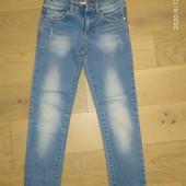 Класснючие джинсы-рванки Zara Girls на 6-7 лет