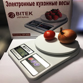 """✅ Электронные кухонные весы на 7 кг """"Bitek"""" sf-400 или """" Domotec"""" MS-400"""