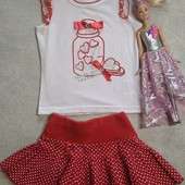Нарядный стильный костюмчик италия и фатиновая юбка в подарок