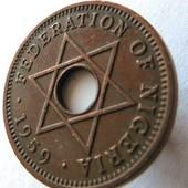 монета Британская Нигерия ½ пенни, 1959