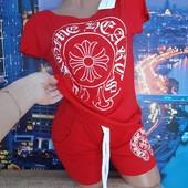 Яркий красный костюмчик Размер  46
