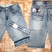 Крутые джинсовые бермуды на мальчиков 134-158 р