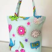 Летняя! Пляжная, прогулочная сумка! забавная расцветка