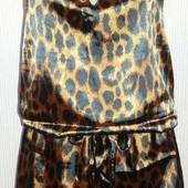 Платье атласное с леопардовым принтом Не б/у --читайте описание--