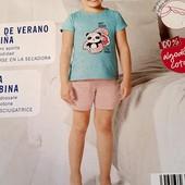 Літній костюм для дівчинки, розмір 86/92, бренд lupilu, германія