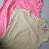 Две тонкие фирменные футболки одним лотом, размер 146